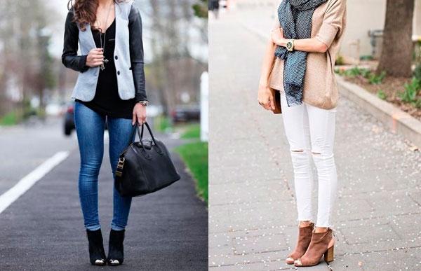 como usar peep toe com calça jeans?