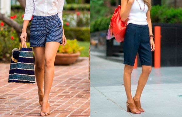 look peep toe com shorts
