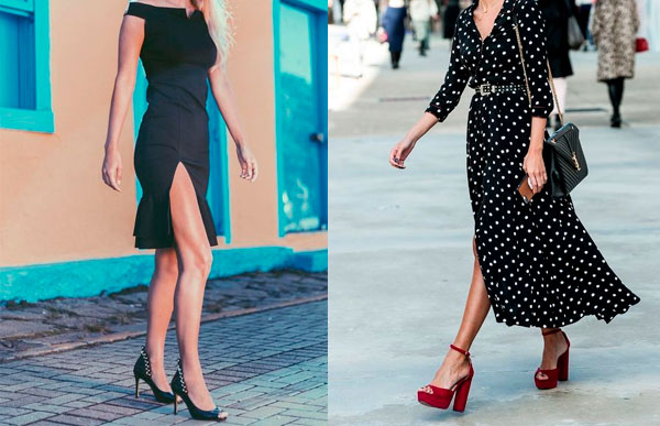 use peep toe com vestido!