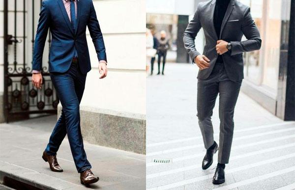 regras para usar sapato e terno