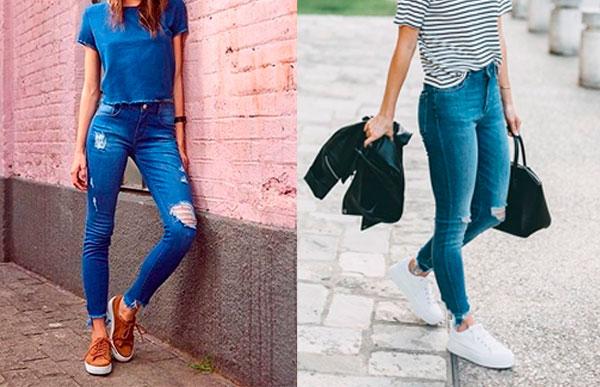 tênis com calça jeans