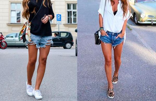 tênis com shorts