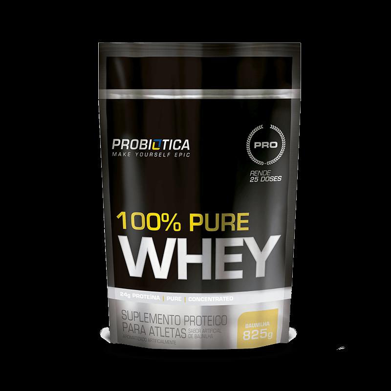 100% Pure Whey (825g) Probiótica 111204 - Morango - Suplementos ... 45cc5331f12