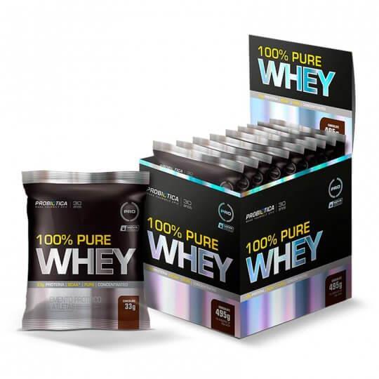 100% Pure Whey Protein (15 sachês de 33g) - Probiótica
