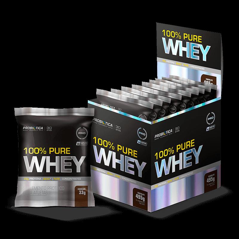 100% Pure Whey (15 sachês de 30g) Probiótica