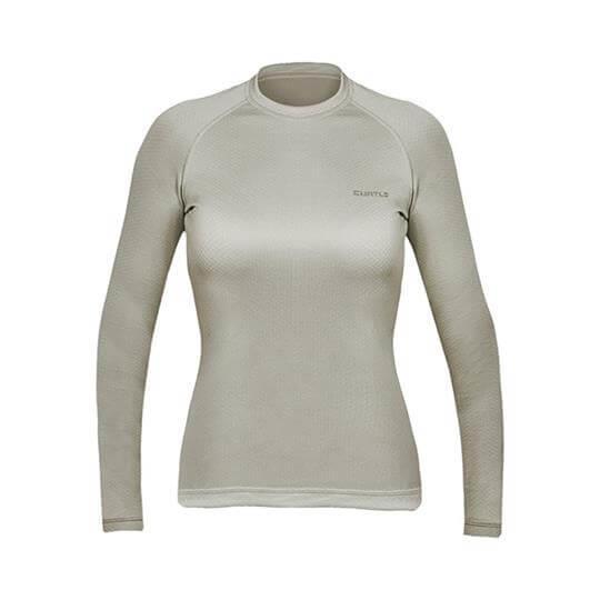 Camiseta Thermo Skin Feminina Manga Longa (Areia) - Curtlo