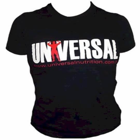 Camiseta Baby Look Universal Feminina - Preta - Universal Nutrition