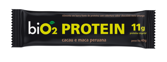 Barra de Proteína Cacau e Maca Peruana 40g - BiO2