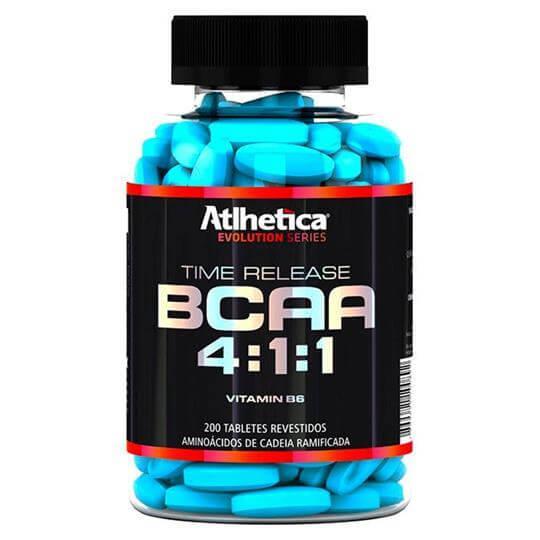 BCAA Time Release 4:1:1  c/ Vitamina B6 (200tabs) - Atlhetica Nutrition