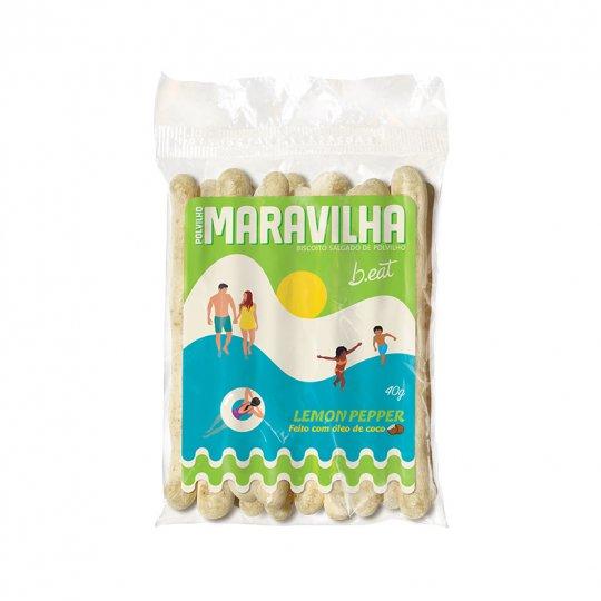 Biscoito de Polvilho Maravilha Lemon Pepper 40g - B-Eat