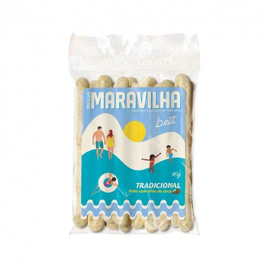 Biscoito de Polvilho Maravilha Tradicional 40g - B-Eat