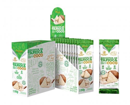 Biscoito de Tapioca c/ Coco TRIO 10x15g - Fhom