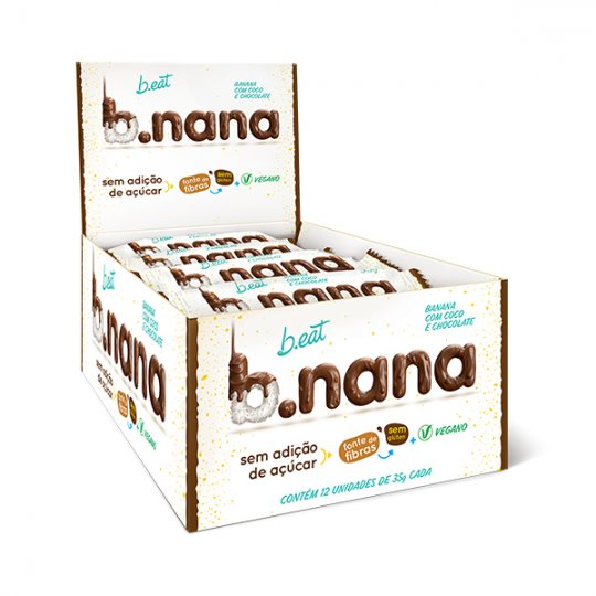B.nana Coco com Chocolate Display 12x35g - B-Eat