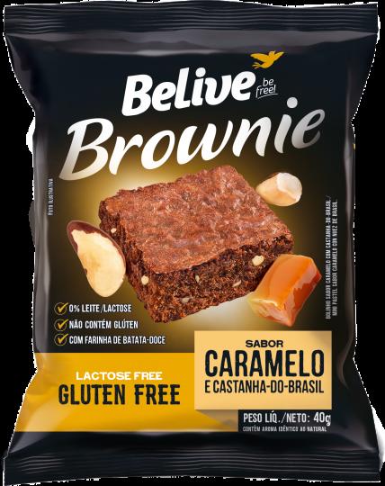 Brownie Caramelo com Castanha do Pará 40g - Belive