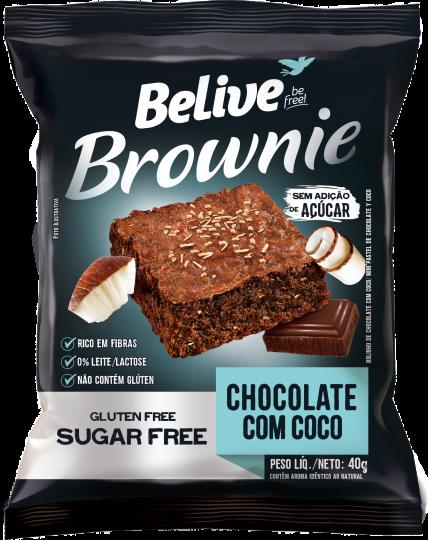 Brownie Chocolate com Coco 40g - Belive