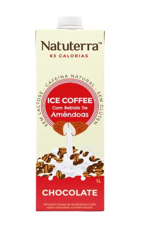 Café Gelado com Bebida de Amêndoas Sabor Chocolate 1L - Natuterra