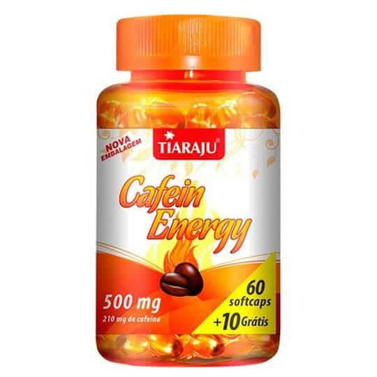 Cafein Energy 210mg (60caps + 10 Grátis) - Tiaraju