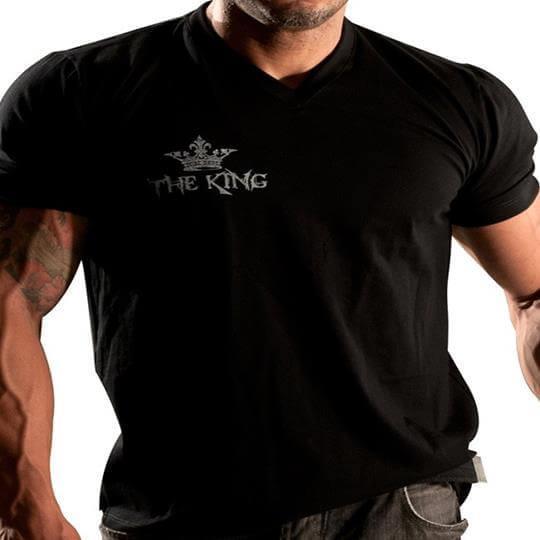 Camiseta Gola V The King (Preta) - Neo Nutri