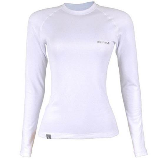 Camiseta Thermo Skin Feminina Manga Longa (Branca) - Curtlo