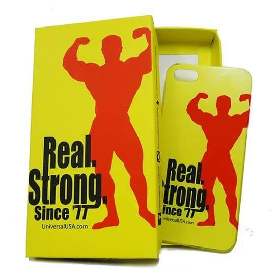 Capa para Iphone 5 e 5S (Amarela) - Universal Nutrition