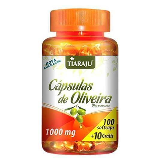 Cápsulas de Oliveira 1000mg (100caps + 10 Grátis)  - Tiaraju