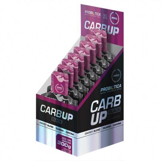 Carb Up Gel Black 30g (Caixa 10 saches) - Probiótica