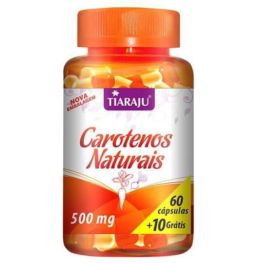 Carotenos Naturais 500mg (60caps + 10 Grátis) - Tiaraju