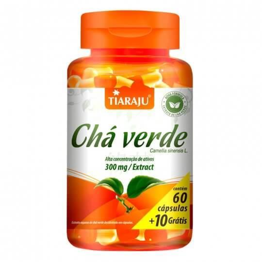 Chá Verde 300mg (60caps + 10 grátis) - Tiaraju
