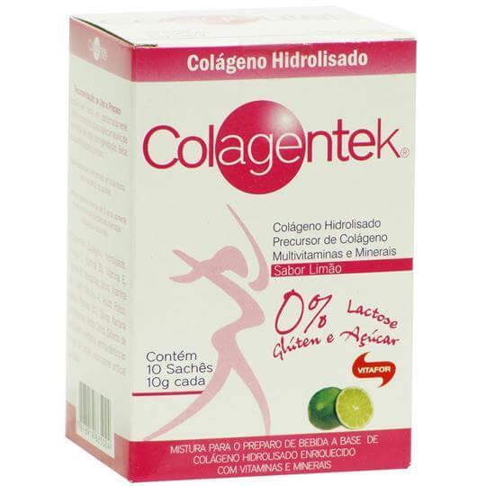Colagentek (Colágeno Hidrolisado) (10 sachês) - Vitafor