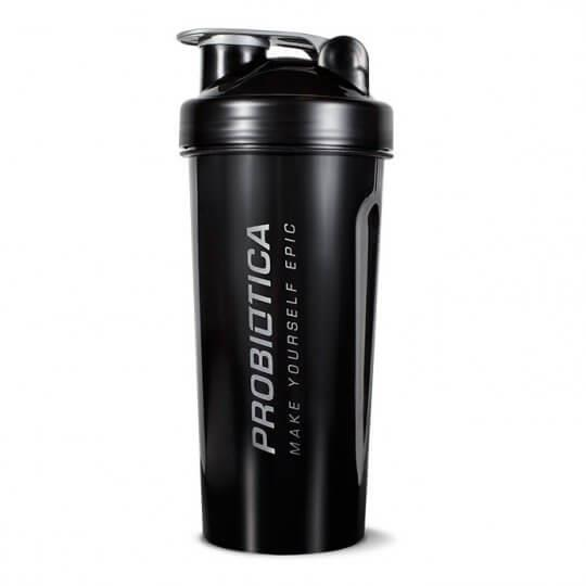 Coqueteleira Shaker Preta e Cinza - Probiótica
