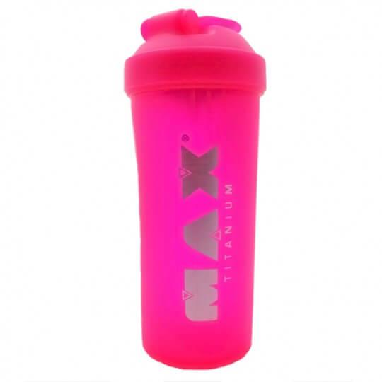 Coqueteleira Shaker Rosa Neon Fosca (600ml) - Max Titanium