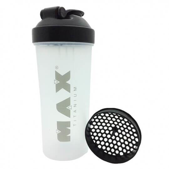 Coqueteleira Shaker Transparente (600ml) - Max Titanium