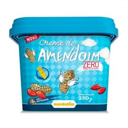 Creme de Amendoim Zero (230g) - Mandubim
