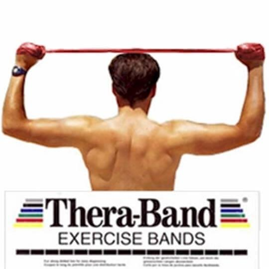 Faixa Elástica Vermelha (Média)(1,5m) - Thera-Band