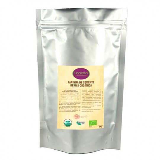 Farinha de Semente de Uva Orgânica UvaSó (3Kg) - Econatura