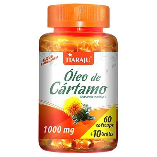Óleo de Cártamo 1000mg (60caps + 10 Grátis) - Tiaraju
