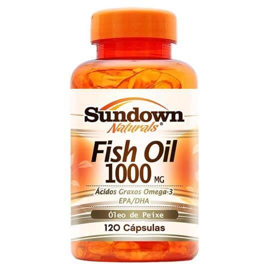Fish Oil 1000mg - Óleo de Peixe (120caps) - Sundown