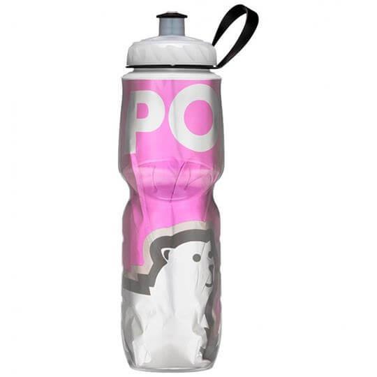 Garrafa Térmica Big Bear Rosa (710ml) - Polar Bottle