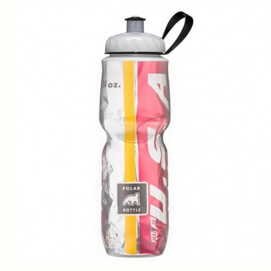 Garrafa Térmica USA Ouro e Vermelho (710ml) - Polar Bottle