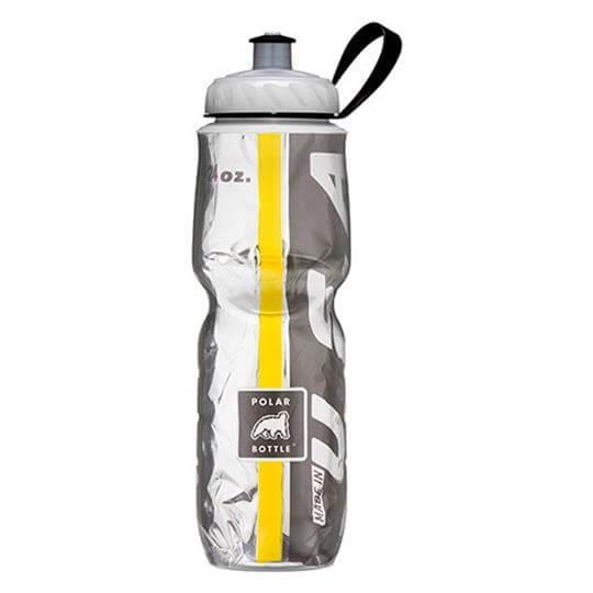 Garrafa Térmica USA Preta e Amarela (710ml) - Polar Bottle