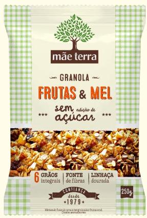 Granola Frutas e Mel Sem Açúcar 250g - Mãe Terra
