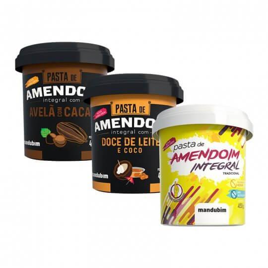 Kit Degustação com 3 Pastas de Amendoim - Mandubim