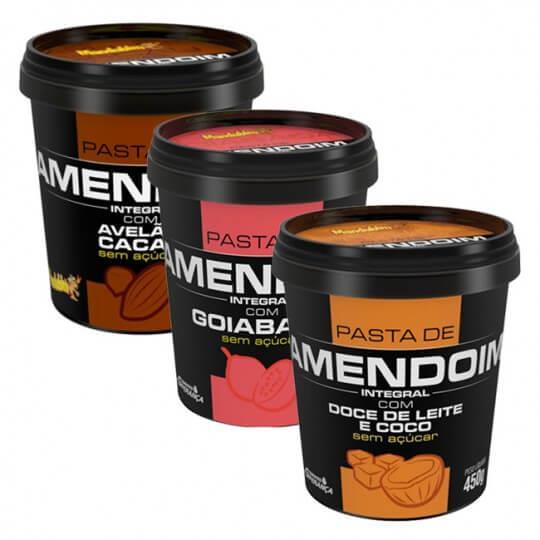 Kit Degustação com 3 Pastas de Amendoim - Mandubim - INATIVO