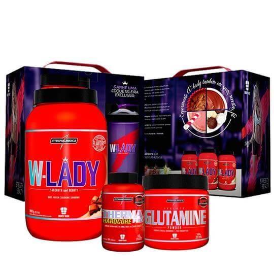 Kit Caixa W-Lady + Glutamin + Therma Pro+ Brinde Coqueteleira - Integralmédica - INATIVO