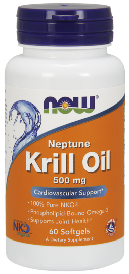 Krill Oil 500mg 60 Caps - Now Sports