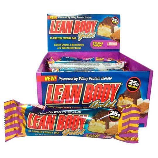 Lean Body Gold Bar (Caixa c/ 12 barras) - Labrada