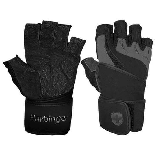 Luvas de Musculação Training Grip c/ Munhequeira - Harbinger