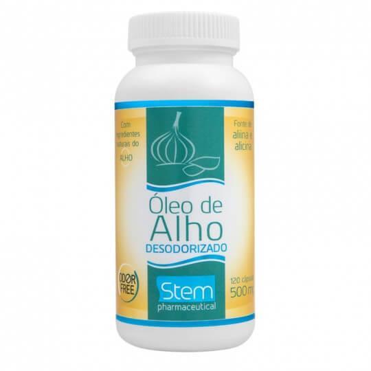 Óleo de Alho Desodorizado 500mg (120caps) - Stem