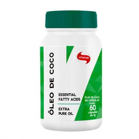 Óleo de Coco 1000mg (60caps) - Vitafor | LIQUIDAÇÃO