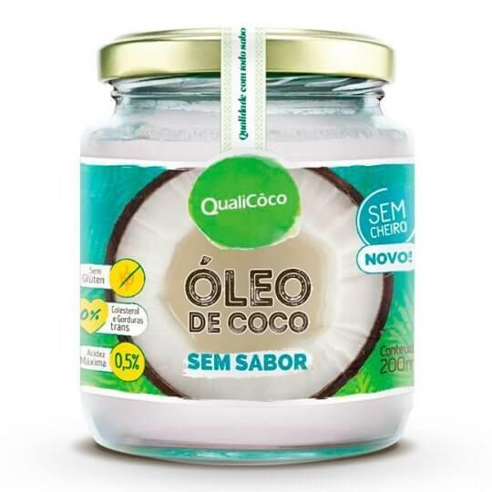 Óleo de Coco Sem Sabor (200ml) - Qualicôco